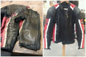 leather jacket repairs ¦  jacket before and after