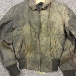 Leather Jacket Restoration Before work was carried out