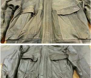 leather jacket restoration before and after